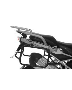 Stainless steel pannier rack black, for BMW R1250GS/ R1250GS Adventure/ R1200GS (LC)/ R1200GS Adventure (LC)