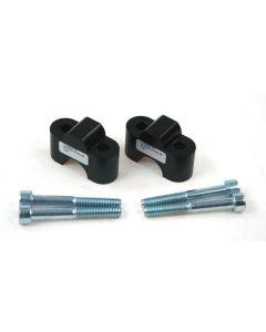Lenkererhöhung TYP 7 25 mm schwarz, für BMW R1100GS/ R1150GS und Honda Transalp/ XRV750/ Varadero
