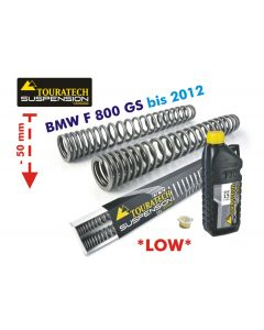 Progressive fork springs for BMW F800GS up to 2012 *50 mm lowering*