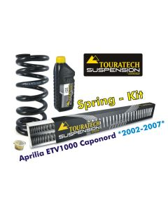 Progressive replacement springs for fork and shock absorber, Aprilia ETV1000 Caponord 2002-2007
