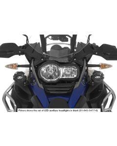 LED Zusatzscheinwerfer Satz Nebel rechts, Fernlicht links für BMW R1200GS Adventure ab 2014, schwarz (nicht mit LED Hauptscheinwerfer)