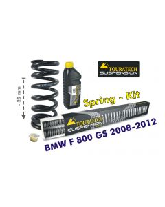 Height lowering kit, 25mm, for BMW F800GS 2008-2012 replacement springs
