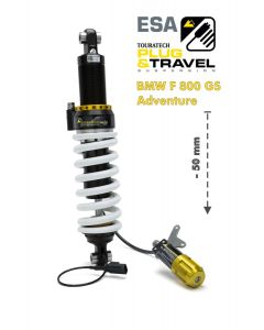 Touratech Suspension, lowering by -50mm for BMW F800GS Adventure from 2014 Type: Plug & Travel for BMW ESA