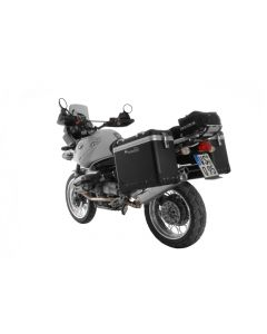 "ZEGA Pro Aluminium pannier system ""And-Black"" 38/45 ltr with stainless steel rack for BMW R1150GS/R1150GS Adventure/R1100GS/R850GS"