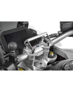 GPS-Anbauadapter BMW F850GS / F850GS Adventure auf Lenkerklemmung für Lenkererhöhung 35 mm Anbauadapter/GPS-Halter/Navi-Halter