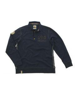 """Polo long-sleeve """"1990"""", men, M, blue"""