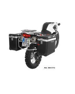 """ZEGA Pro Koffersystem """"And-Black"""" 45/45 Liter mit Edelstahlträger für BMW F650GS / F650GS Dakar / G650GS / G650GS Sertao"""