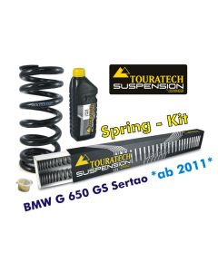 Progressive replacement springs for fork and shock absorber, BMW G650GS Sertao from 2011 replacement springs