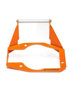 GPS Anbauadapter über Instrumente, orange, für KTM 1050 Adventure/ 1090 Adventure/ 1190 Adventure/ 1190 Adventure R