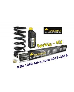 Progressive replacement springs for fork and shock absorber, KTM 1090 Adventure 2017-2018 replacement springs