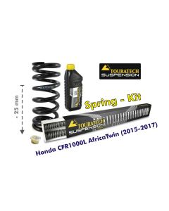 Height lowering kit, 25mm, for Honda CRF1000L Africa Twin (2015-2017) replacement springs
