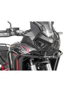 """Scheinwerferschutz schwarz mit Schnellverschluss für Honda CRF1100L Africa Twin """"OFFROAD USE ONLY"""""""