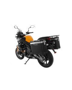 """ZEGA Pro Koffersystem """"And-Black"""" 31/31 Liter mit Stahlträger schwarz für Kawasaki Versys 650 (2010-2014)"""