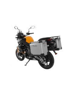 """ZEGA Pro Koffersystem """"And-S"""" 38/38 Liter mit Stahlträger schwarz für Kawasaki Versys 650 (2010-2014)"""