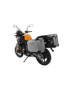 ZEGA Pro Koffersystem 45/45 Liter mit Stahlträger schwarz für Kawasaki Versys 650 (2010-2014)