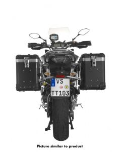 "ZEGA Pro aluminium pannier system ""And-Black"" 38/38 litres with stainless steel rack for Yamaha MT-09 Tracer (2015-2017)"