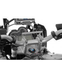 GPS Anbauadapter BMW R1250GS/ R1250GS Adventure/ R1200GS ab 2013/ R1200GS Adventure ab 2014 auf Lenkerklemmung Anbauadapter / GPS-Halter / Navi-Halter Navigationsgerätehalter