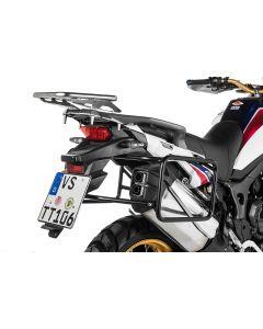 Kofferträger Edelstahl, schwarz für Honda CRF1000L Africa Twin (2015-2017)